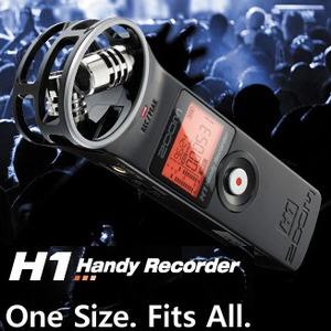 [ZOOM H1(2GB)] 전문핸디레코더 강의회의 성악성우 색소폰 피아노 기타 악기연주녹음기 디지털고음질 뮤지컬 오디션 뮤지션